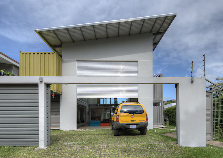 Costa Rican Shipping Container Home Casa Incubo Garage