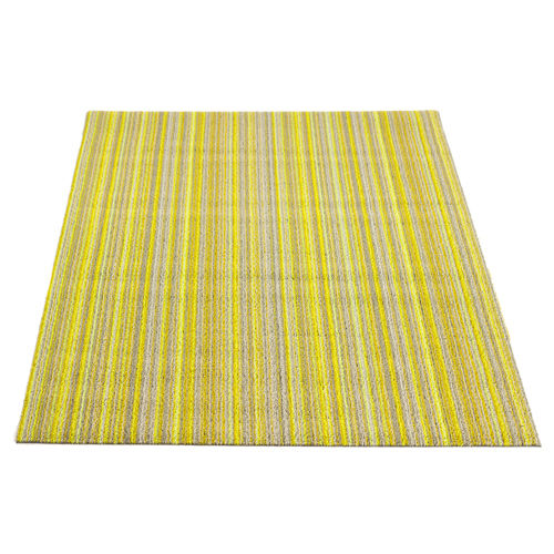 yellow shag utility mat by chilewich