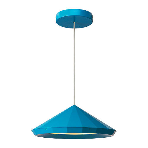 Ikea PS Collection LED pendant in blue