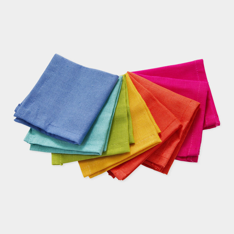 rainbow cocktail napkins