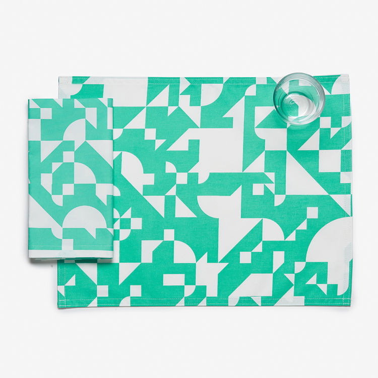 Shapes mint placemat by Unison