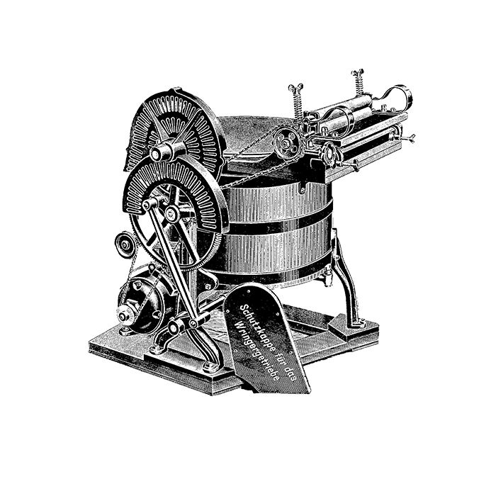 First washing machine with electric motor.