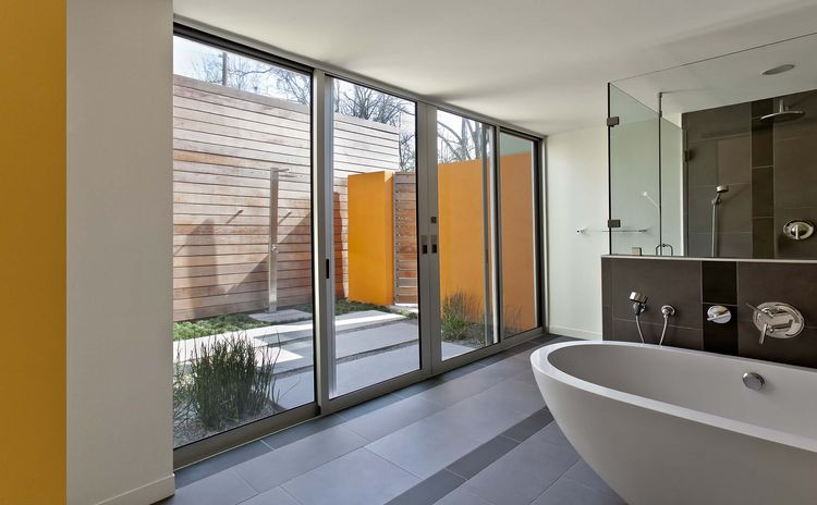 Highland Road Renovation master bath and outdoor shower
