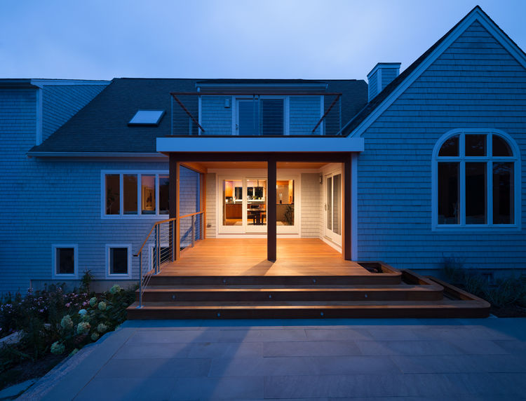 Cape Cod Office Addition exterior view of house