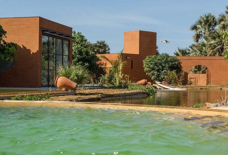 Khamsa earth brick home in Senegal by Atelier Koe