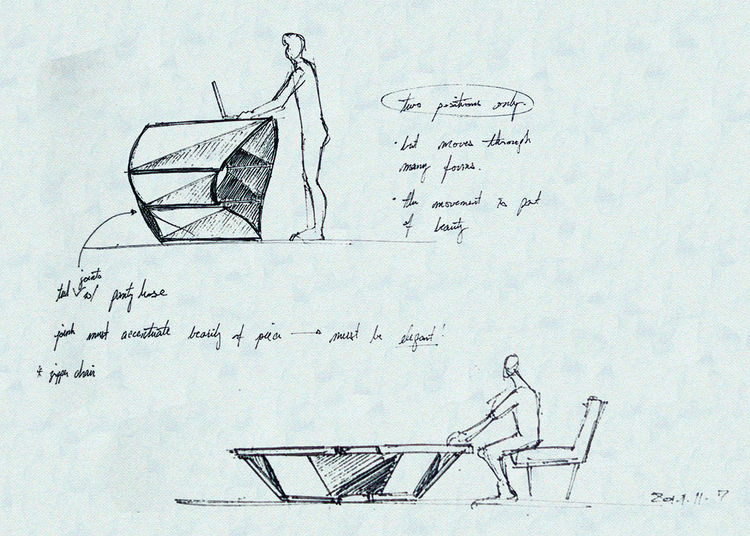 Kabu standing desk prototype