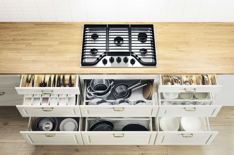 New IKEA kitchen cabinets with drawers