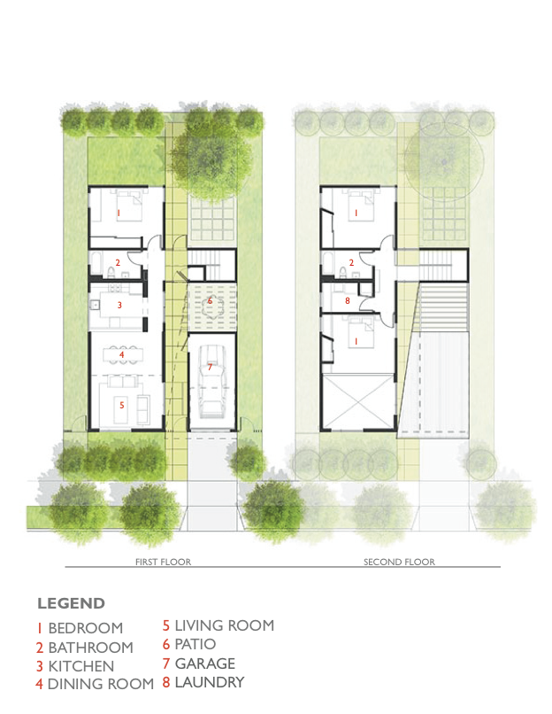 Lehrer Architects Affordable Housing Prototype Floor Plan 1