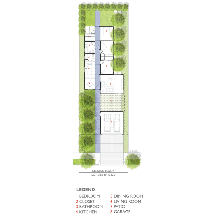 Lehrer Architects Affordable Housing Prototype floor plan