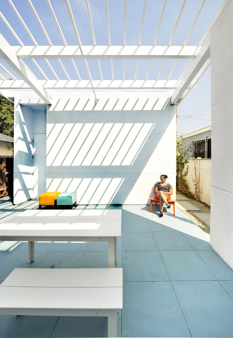 Lehrer Architects Affordable Housing Prototype Patio