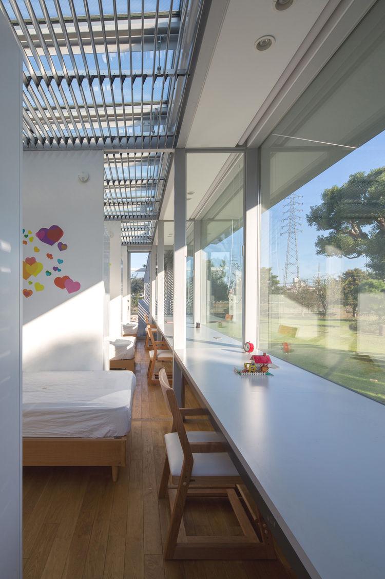 Japanese Architect Osamu Morishita Japan House Tour Green Design Family-friendly Adjoining Kids Bedrooms