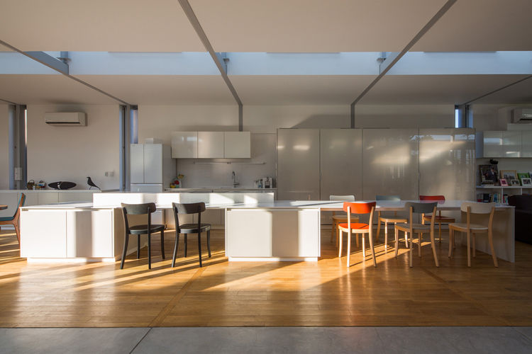 Japanese Architect Osamu Morishita Japan House Tour Green Family-friendly Design Family Area Kitchen