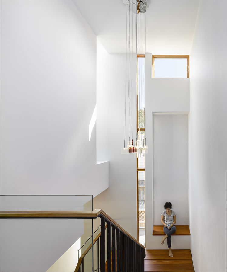 stairwell in a modern Toronto house