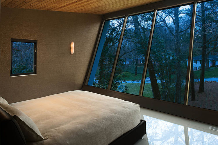 Bedroom with sweeping view.