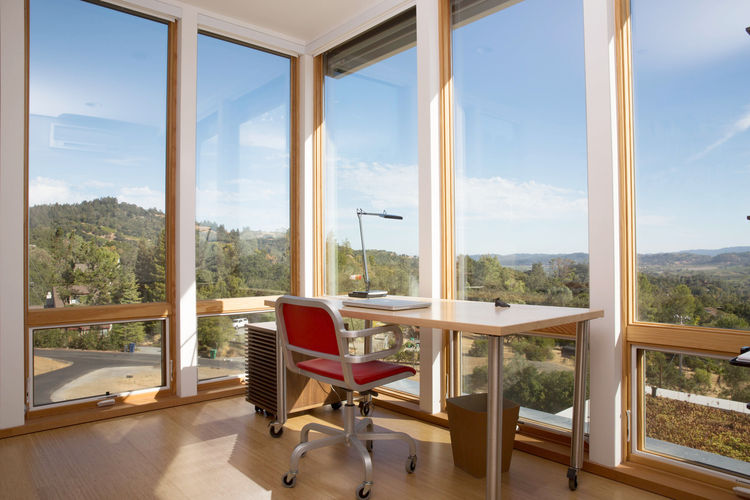 Cloverdale Prefab Home Office with panoramic views