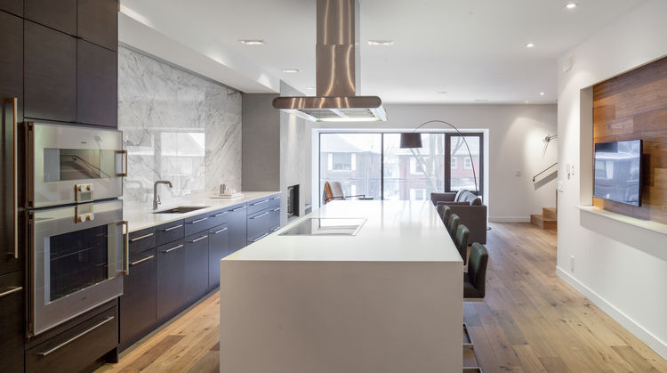 Midtown Triplex Renovation kitchen, Toronto