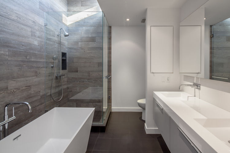 Midtown Triplex Renovation master bathroom, Toronto