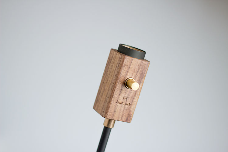 wald plug lamp by feltmark detail