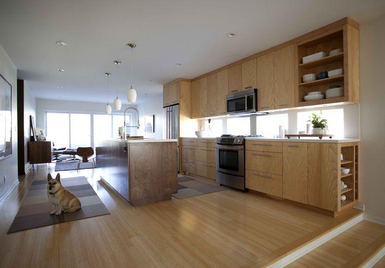 Kansas kitchen with birch cabinets