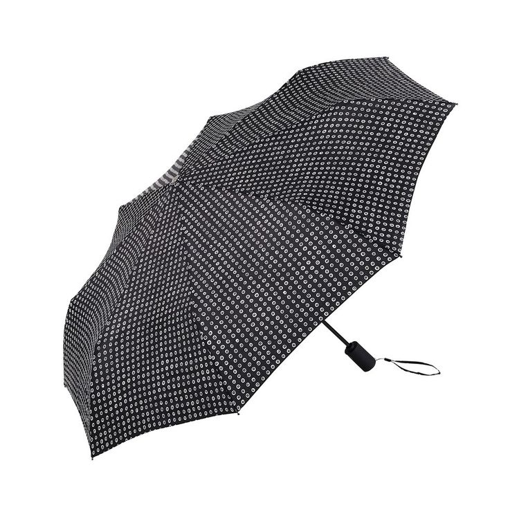 Black and white umbrella with aluminum frame