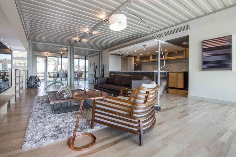 PV14 Dallas House Steel Ceilings