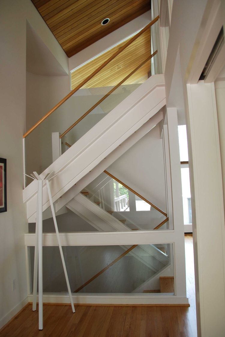 Chapel Hill Renovation Open Staircase