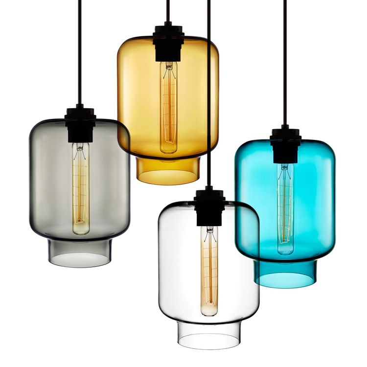 Nature-inspired hand-blown glass pendant light