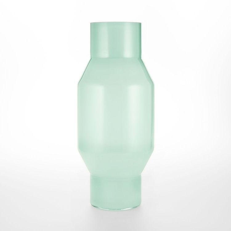 elegant handblown glass vase with tapered silhouette