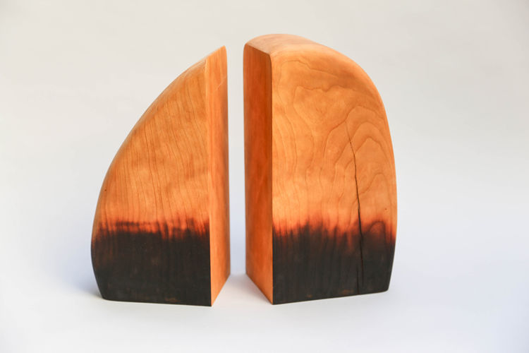 Charred Bookends by Moran Woodworked at The-Commons