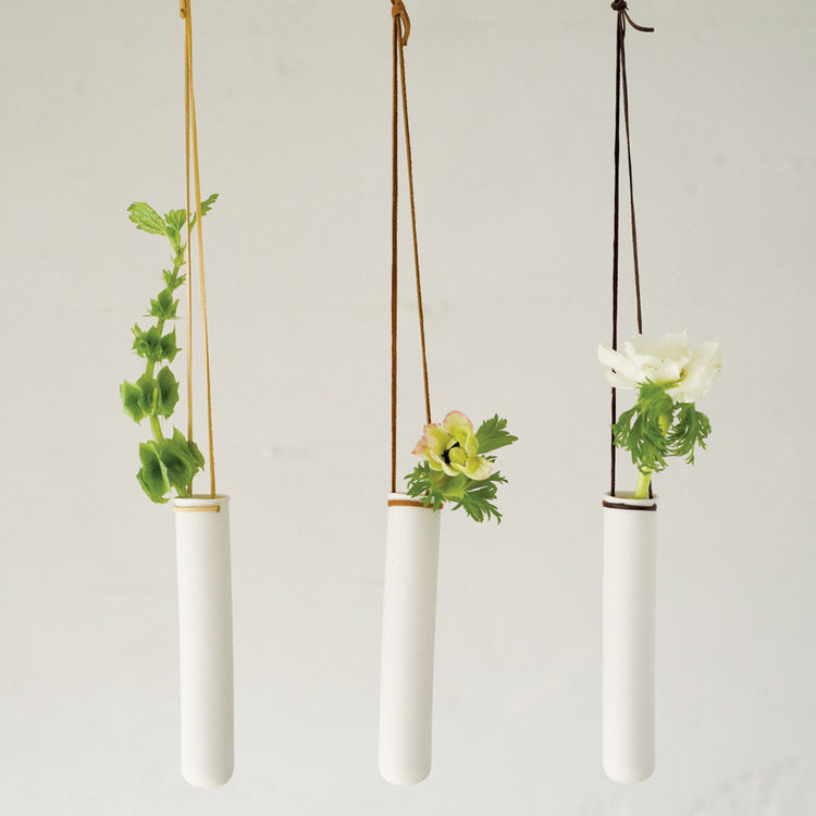 Test Tube planters made by Pigeon Toe Ceramics in Portland, Oregon