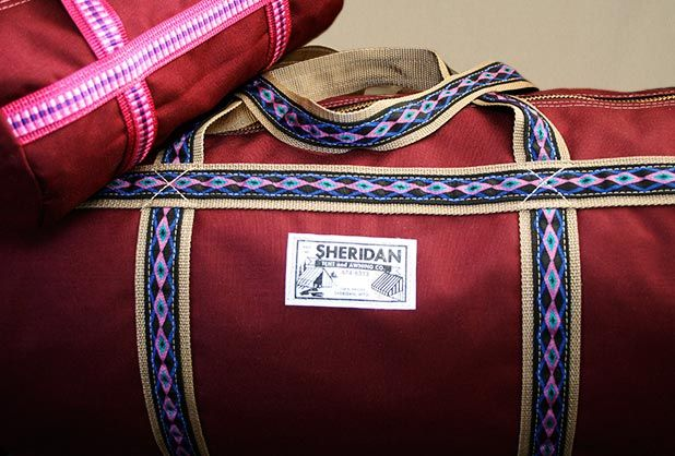 Sheridan Tent and Awning duffle bag.