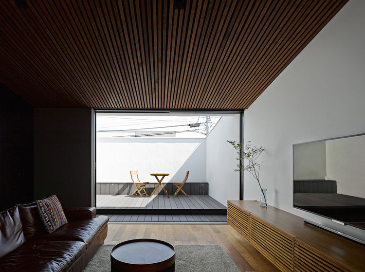 Wave House Living Room and Terrace, Fujisawa, Japan