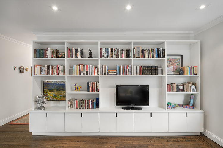 Upper East Side apartment with custom storage wall
