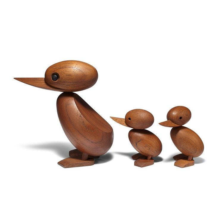 Midcentury wood ducks made from teak
