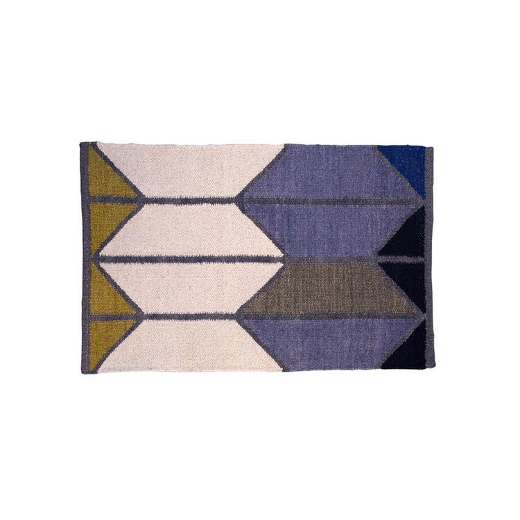 Colorful and geometric area rug