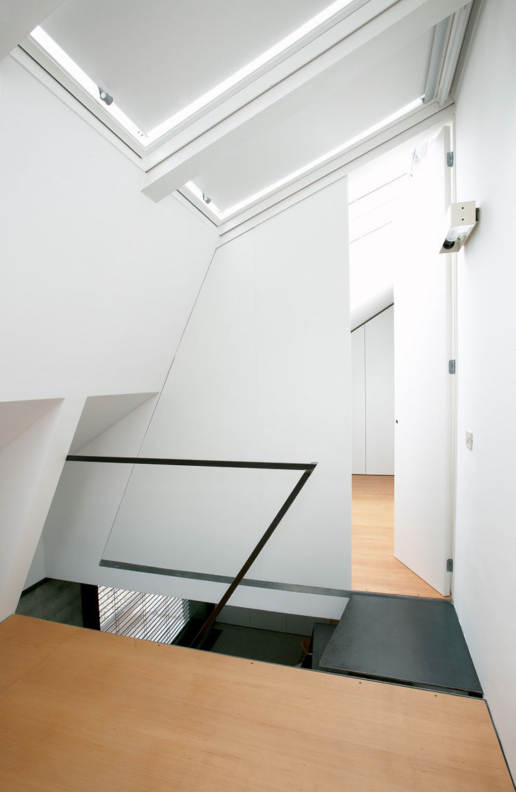 Ljubljana Micro House Staircase and Light Shafts