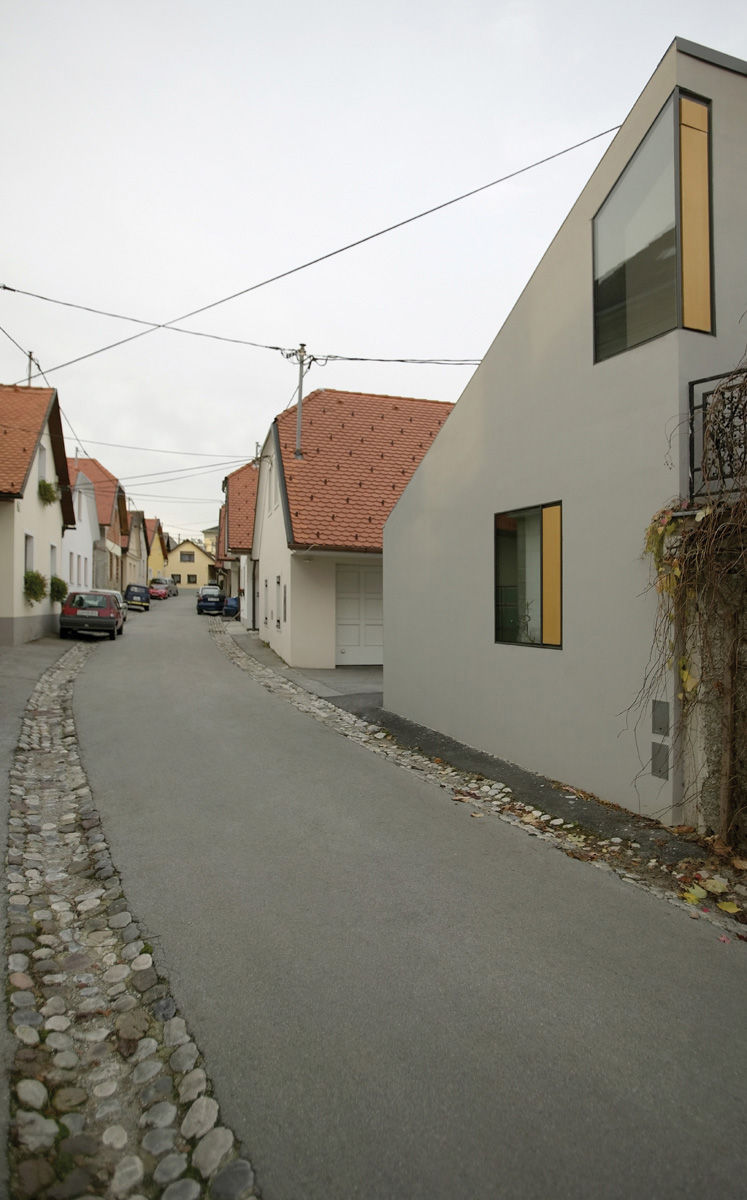 Ljubljana Micro House Exterior Showing Neighboring Homes