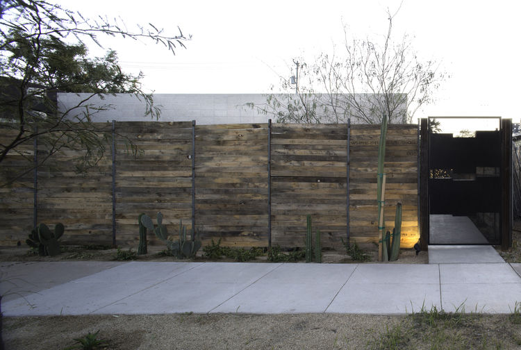 Phoenix complex with wood exterior fence