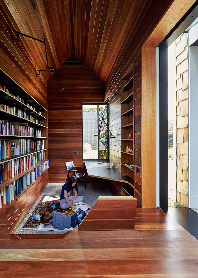 Gum wood library in Australia