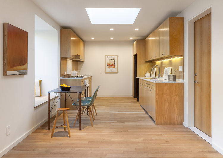 White Oak Kitchen in the Brother and Sister homes by Anonymous Architects