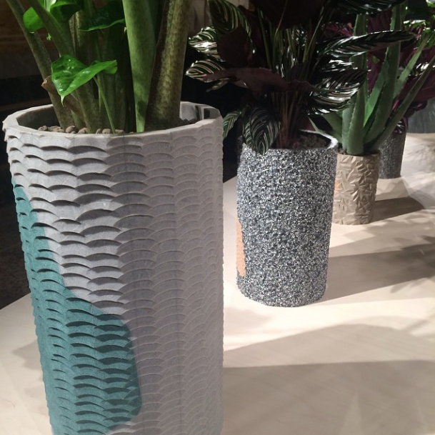 Caesarstone planters at Salone del Mobile 2015