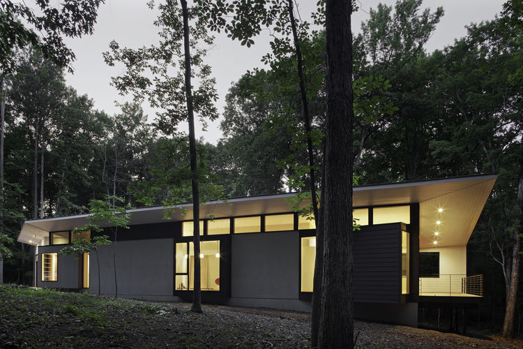 Durham, North Carolina residence in the woods
