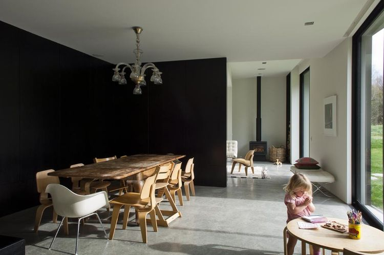 Polished Concrete Floors in Casa Familia by Bergendy Cooke, New Zealand