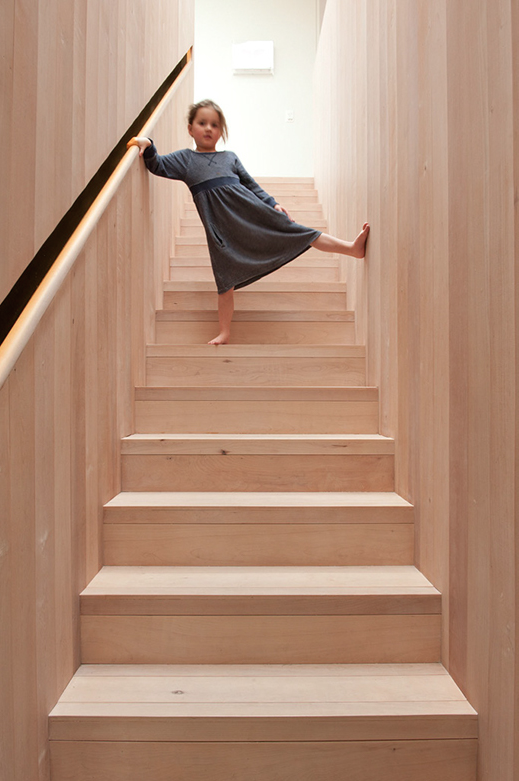 Southern Beech Stairwell in Casa Familia by Bergendy Cooke, New Zealand
