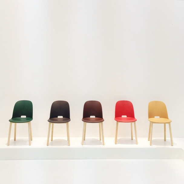 Alfi chairs by Jasper Morrison for Pennsylvania-based Emeco chairs