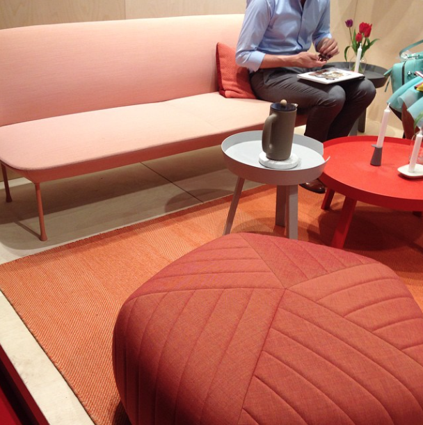 Peach tones at Muuto Design at Salone del Mobile 2015