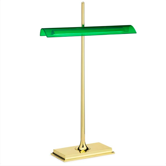 Desk lamp in style of traditional banker's lamps