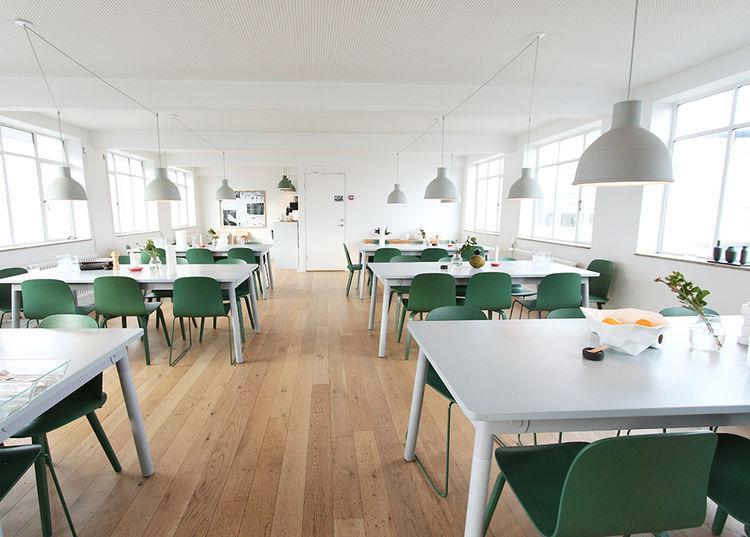 Muuto Copenhagen headquarters canteen.