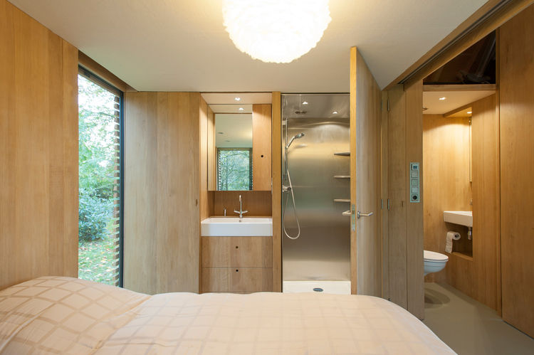 Bathroom and Bedroom in Handmade Cabin, The Netherlands