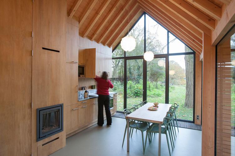 Fine Wood Craftsmanship in Handmade Cabin, The Netherlands
